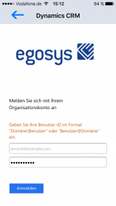 egosys Microsoft Dynamics CRM for iPhones with Internet Facing Deployment (IFD)